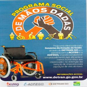 O Sincodive – GO apoia o De Mãos Dadas, novo programa de apoio à pessoas com deficiência